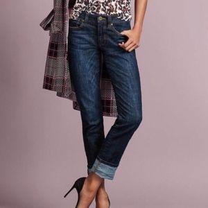 CAbi Dark Wash High Straight Jean #3386 Size 10